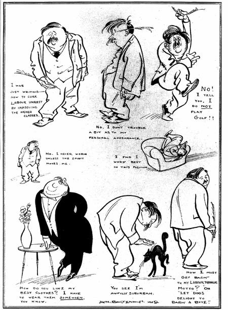 Wells 1912 cartoons