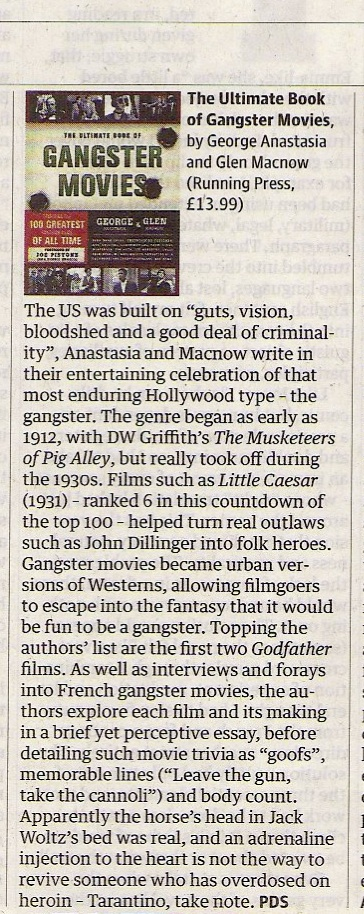 PD Smith, The Ultimate Book of Gangster Movies, Guardian 22 Oct 2011