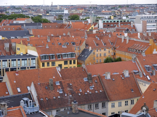 Copenhagen Rooftops, copyright PD Smith