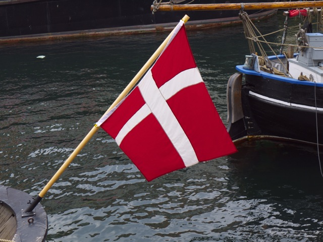 Danish flag, copyright PD Smith